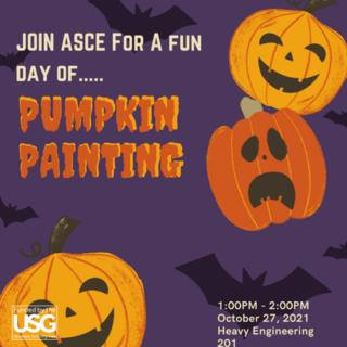 Pumpkin Painting Poster