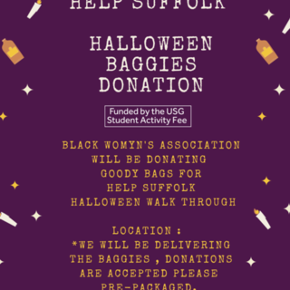 BWA Help Suffolk Halloween Baggie Donation Delivery  Poster