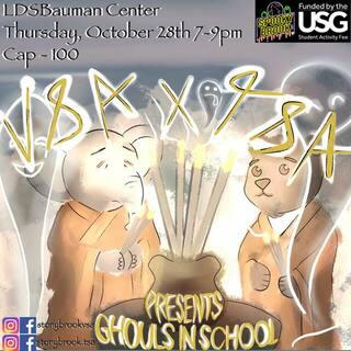 TSA x VSA Presents: Ghouls in School Poster