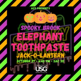 Elephant Toothpaste Jack-O-Lanterns Poster