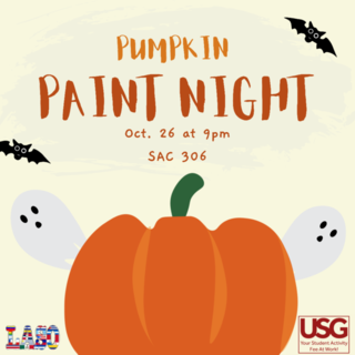Pumpkin Paint Night Poster