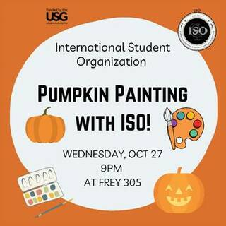 Pumpkin Painting with ISO Poster