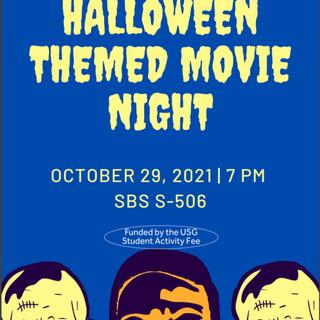 Spooky Movie Night with UAS Poster
