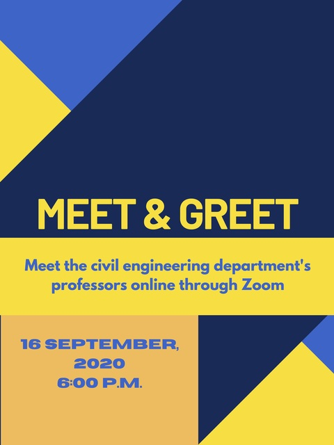 Meet & Greet - Meet the Civil Engineering Department! Poster
