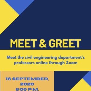 Meet & Greet - Meet the Civil Engineering Department! Poster