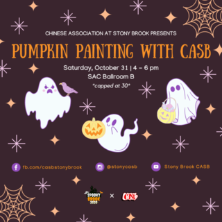 Spooky Brook: Pumpkin Painting with CASB Poster