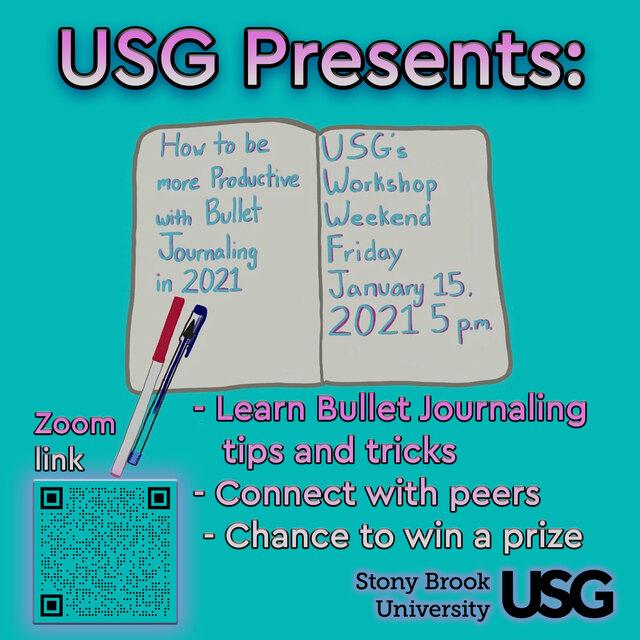 USG's Workshop Weekend: Bullet Journaling Poster